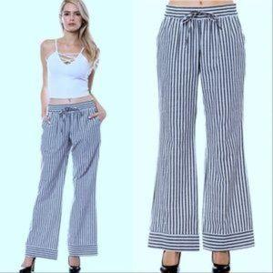 Pants - Nautical Wide Legged Pants